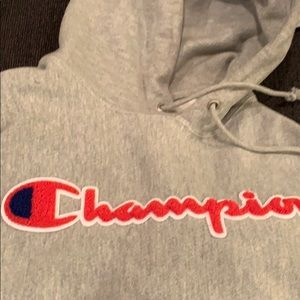 Hooded champion sweater